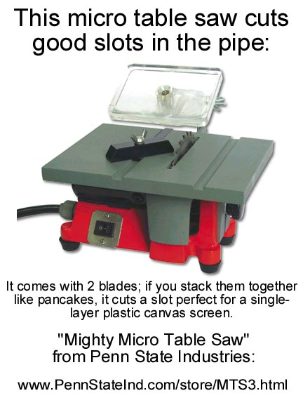 Micro Table Saw For Cutting Slots